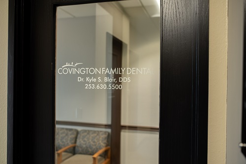 The front door at Covington Family Dental