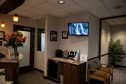 The waiting area at Covington Family Dental